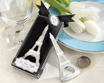 """La Tour Eiffel"" Chrome Bottle Opener wedding favors"