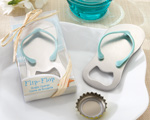 """Pop the Top"" Flip-Flop Bottle Opener wedding favors"