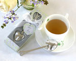 """Tea Time"" Heart Tea Infuser in  Tea-Time Gift Box wedding favors"