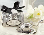 """Tea for Two"" Teapot Tea Infuser wedding favors"