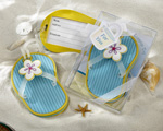 Flip-Flop Luggage Tag in Beach-Themed Gift Box wedding favors