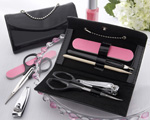 """Little Black Purse"" Patent-Leather Five-Piece Manicure Set wedding favors"