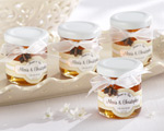 """Meant to Bee"" Personalized Clover Honey wedding favors"
