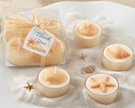 """Seaside"" Tea Light Candle Set wedding favors"