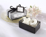 """Hugs & Kisses From Mr. and Mrs."" Scented Soaps wedding favors"