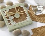 Natural Bamboo Eco-Friendly Coaster Favors (Four Coasters per Favor!) wedding favors