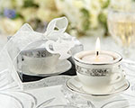 Teacups and Tealights Miniature Porcelain Tealight Holders wedding favors