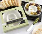 """Olive You"" Olive Tray and Spreader wedding favors"