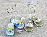 Beachcombers Flip Flop Placecard Holders - Set of 4 (2 pairs) wedding favors