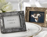 """Work of Art"" Antique-Finish Place Card Holder/Photo Frame wedding favors"
