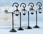 """Bourbon Street"" Streetlight Place Card Holder with Coordinating Place Cards wedding favors"
