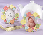 """Cute as a Button"" Round Photo Frame wedding favors"