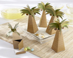 Palm Tree Favor Box with Multi-dimensional Detail wedding favors