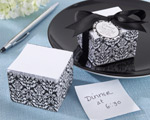 """Damask Elegance"" Note Pad wedding favors"
