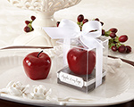 """Apple of My Eye"" Mini-Candle in Gift Box with Ribbon and Tag wedding favors"