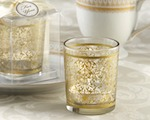 """Golden Renaissance"" Glass Tealight Holder (Set of 4) wedding favors"