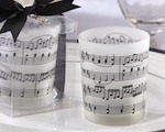 """Music of the Heart"" Frosted-Glass Tealight Holder (Set of 4) wedding favors"