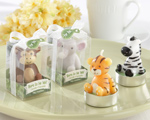 """Born to be Wild"" Animal Candles wedding favors"