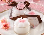 """Cherry Blossoms"" Flower Tea Lights (Set of 4) wedding favors"