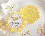 """Meant To Bee"" Honey-Scented Honeycomb Soap (Available Personalized) wedding favors"