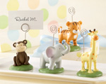 """Born To Be Wild"" Animal Place Card/Photo Holders (Set of Four Assorted) wedding favors"