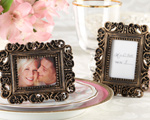 """Ornate"" Antique Gold Place Card Holder/Photo Frame wedding favors"