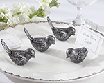 Antiqued Bird Place Card Holder (Set of 4) wedding favors
