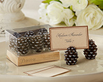 Pinecone Place Card/Photo Holders (Set of 6) wedding favors