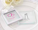 Personalized Glass Coasters - Set of 12 wedding favors