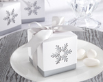 """Winter Dreams"" Laser-Cut Snowflake Favor Box (Set of 24) wedding favors"