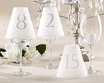 Elegant Table Number Vellum Shades (Numbers 1-15) wedding favors