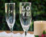 Personalized Champagne Flutes wedding favors