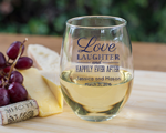 Personalized Stemless Wine Glass 15 oz. wedding favors
