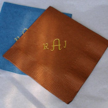 Monogram Napkins - 3 Letters wedding favors