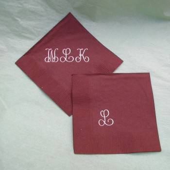 Monogram Napkins - Large Letters wedding favors
