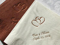 Personalized Napkins With Designs wedding favors