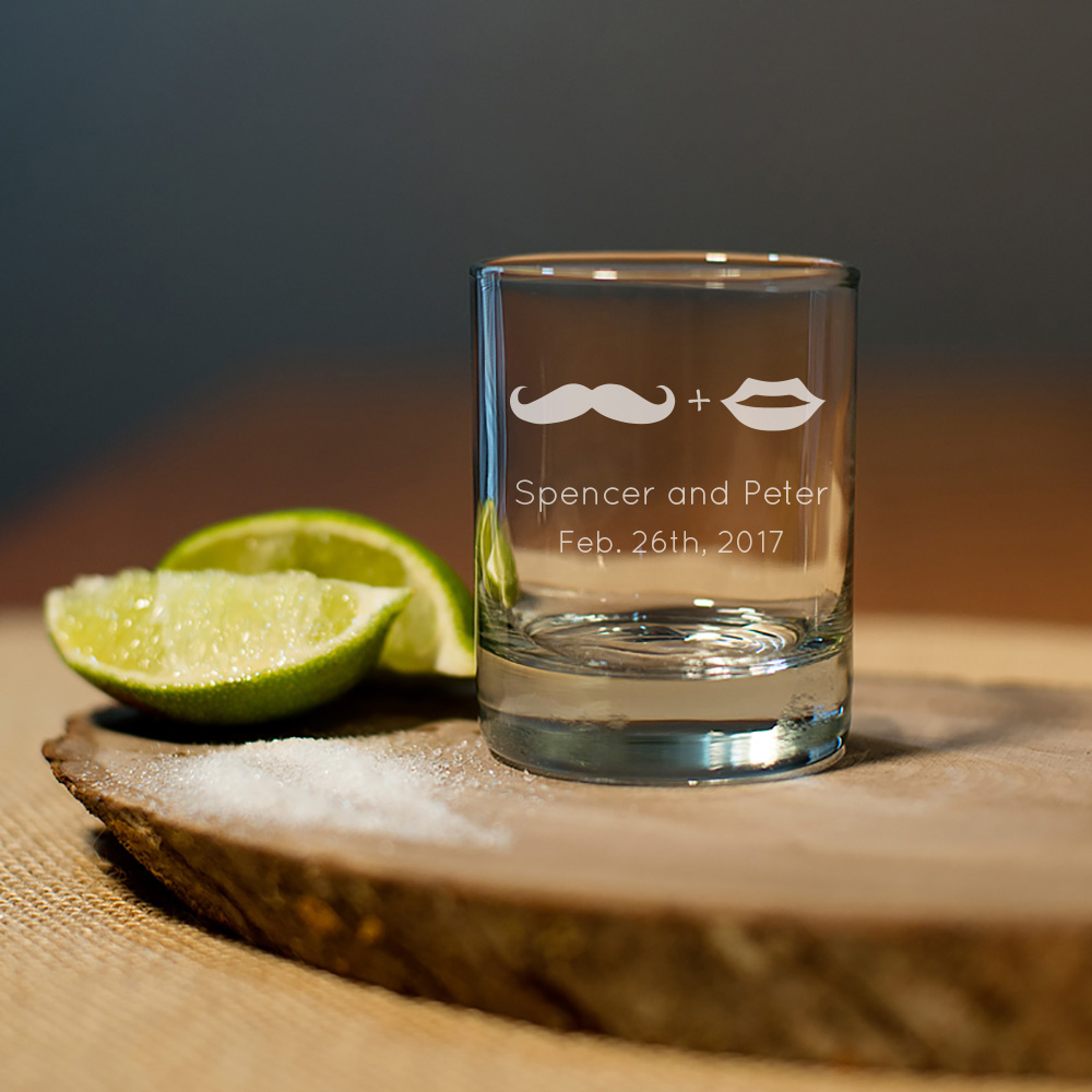 Engraved Shot/Votive Favor Glasses wedding favors
